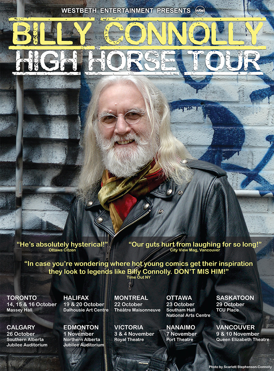 Billy Connolly High Horse Canada Poster